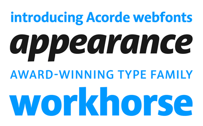 Acorde webfonts are finally available for purchase
