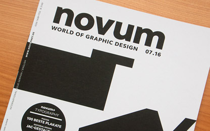 Interview in German design magazine <i>Novum</i>