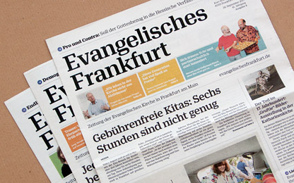 <i>Evangelisches Frankfurt</i> <br>is now typeset in Sindelar