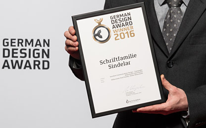 Sindelar succeeds at the <i>German Design Award 2016</i>
