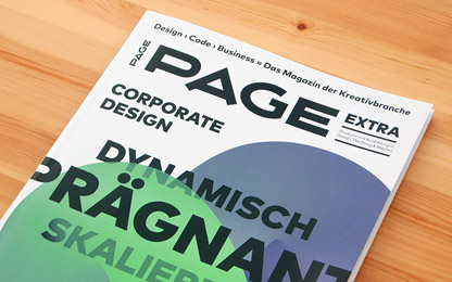 Sindelar is featured in German design magazine <i>Page</i>
