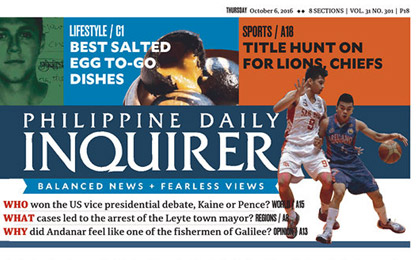 The Philippine Daily Inquirer's new text face: Sindelar