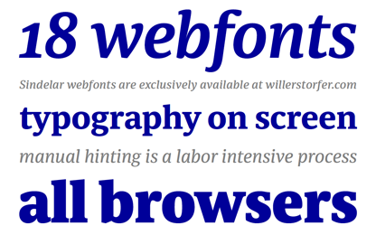 Sindelar webfonts are now available for purchase